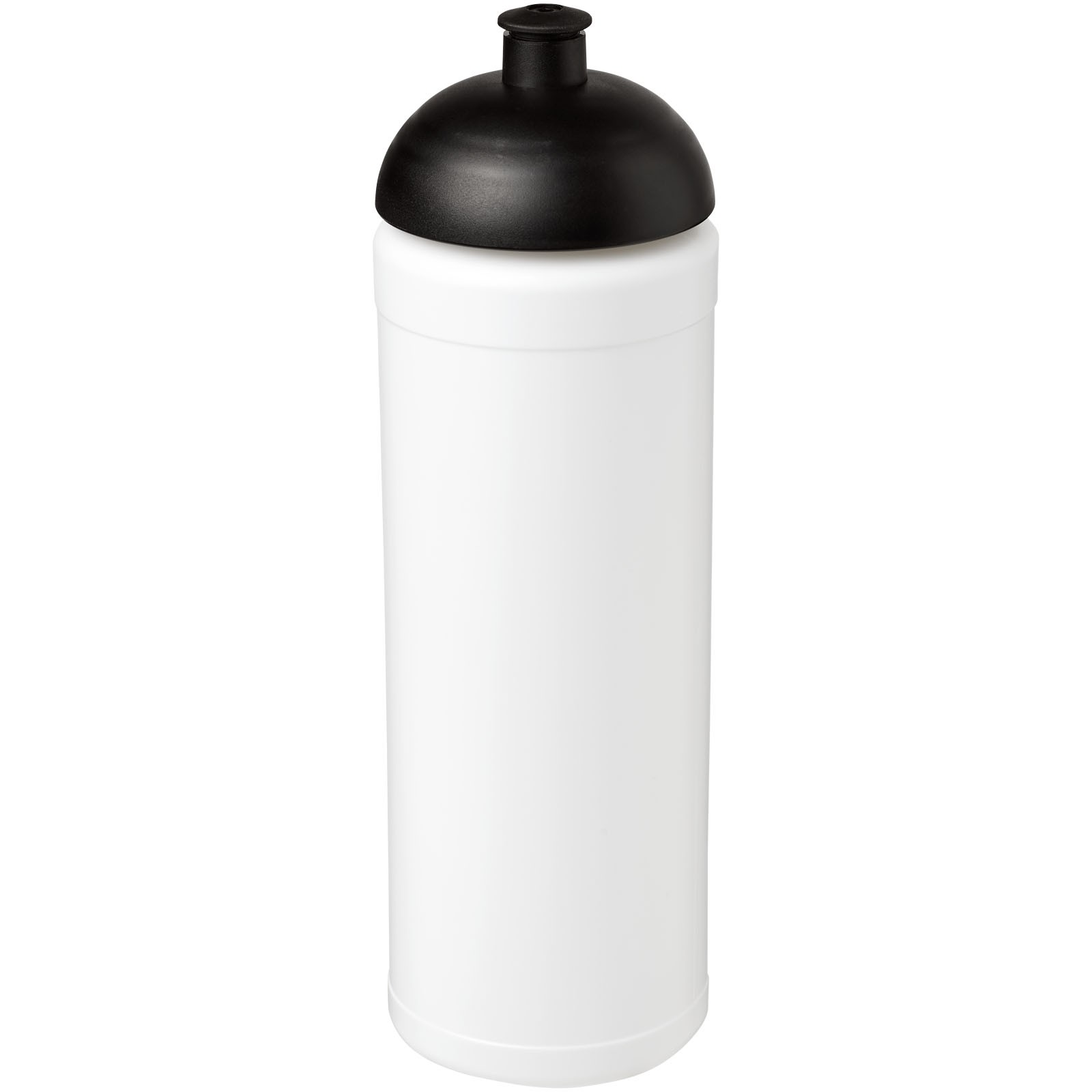 Baseline® Plus grip 750 ml dome lid sport bottle - White / Solid black