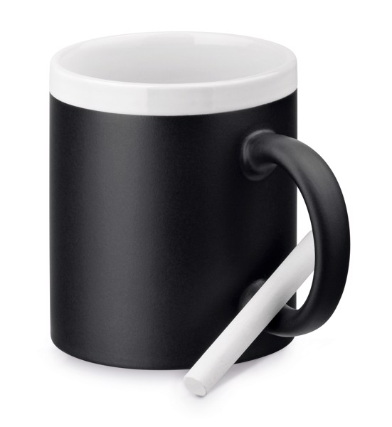 CHALKIE. Ceramic mug 350 ml - White