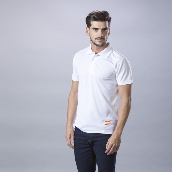 Polo Tecnic Bandera - Blanco / S
