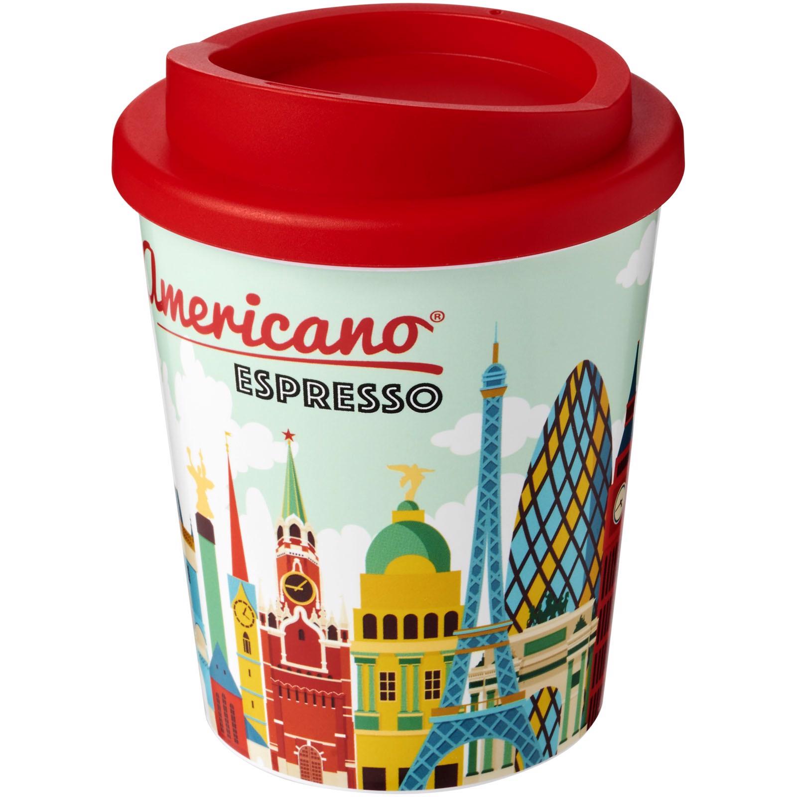 Termo hrnek Brite-Americano® espresso 250 ml - Červená s efektem námrazy