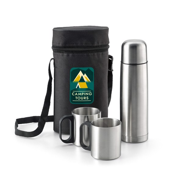 DURANT. Thermos and mugs set