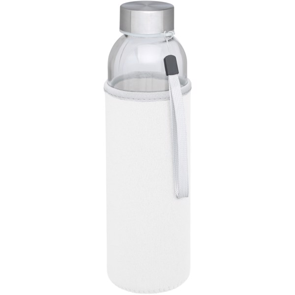 Bodhi 500 ml glass sport bottle - White
