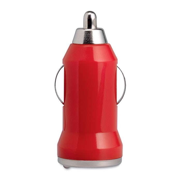 Ładowarka USB do samochodu Mobicar - czerwony