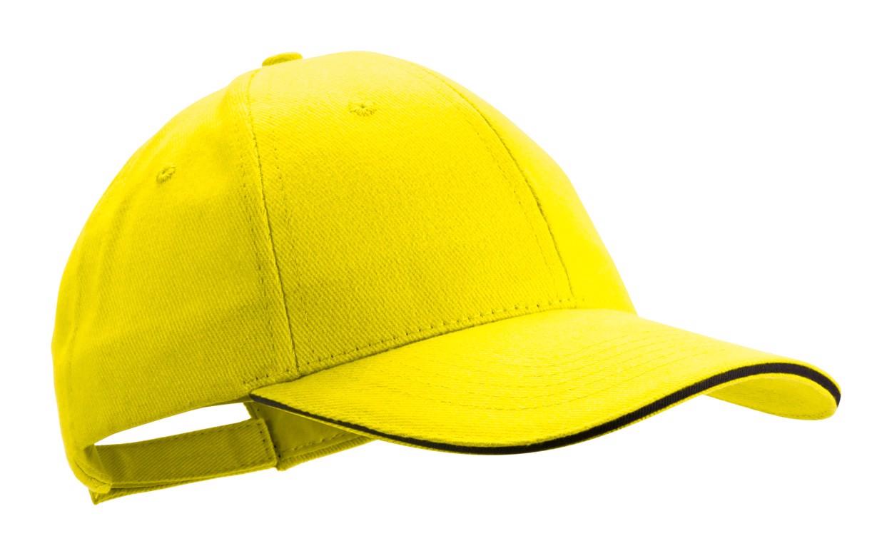 Basebalová Čepice Rubec - Žlutá