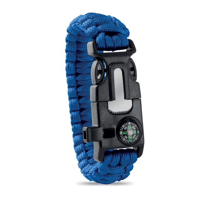 Personal Safety Kit Bracelet Survival - Royal Blue