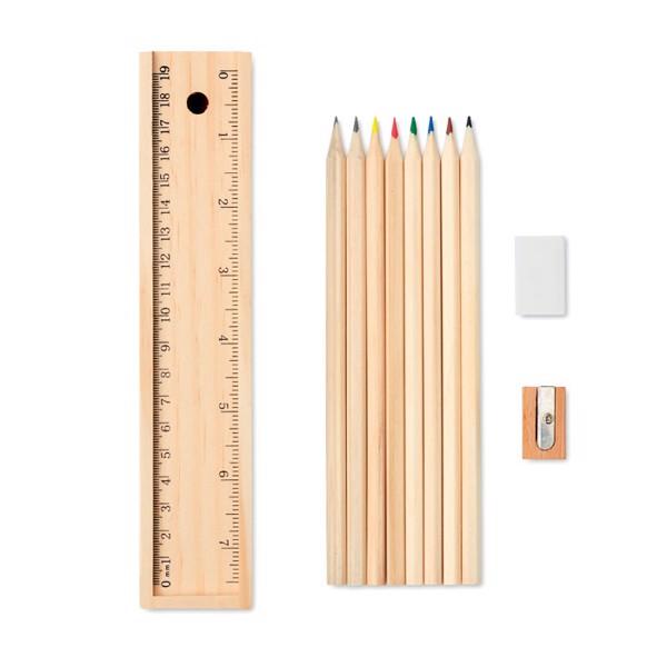 Set de 12 creioane de lemn Todo Set