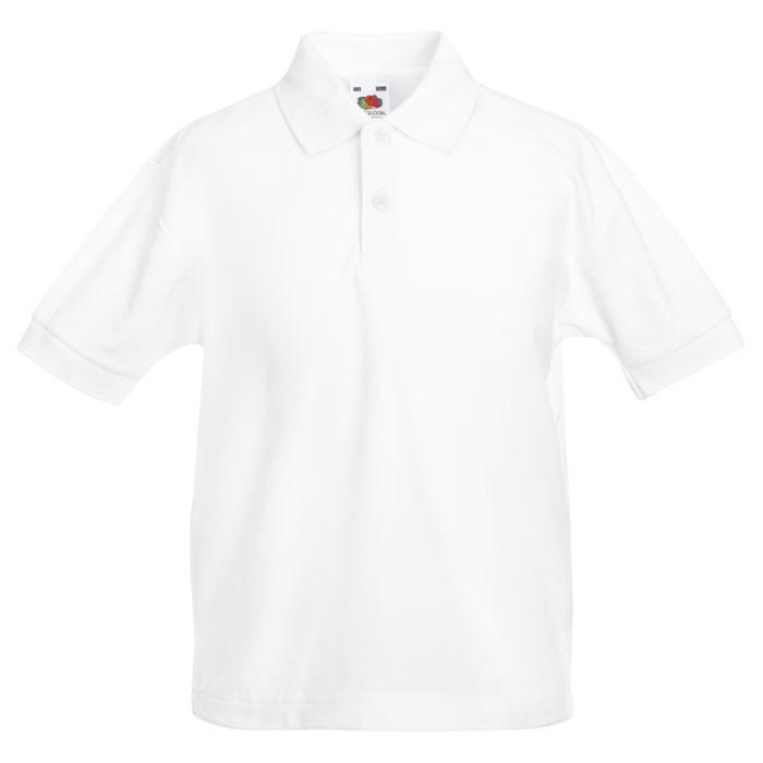 Dziecięca Koszulka polo 170 65/35 Kids Polo 63-417-0 - Biały / XS
