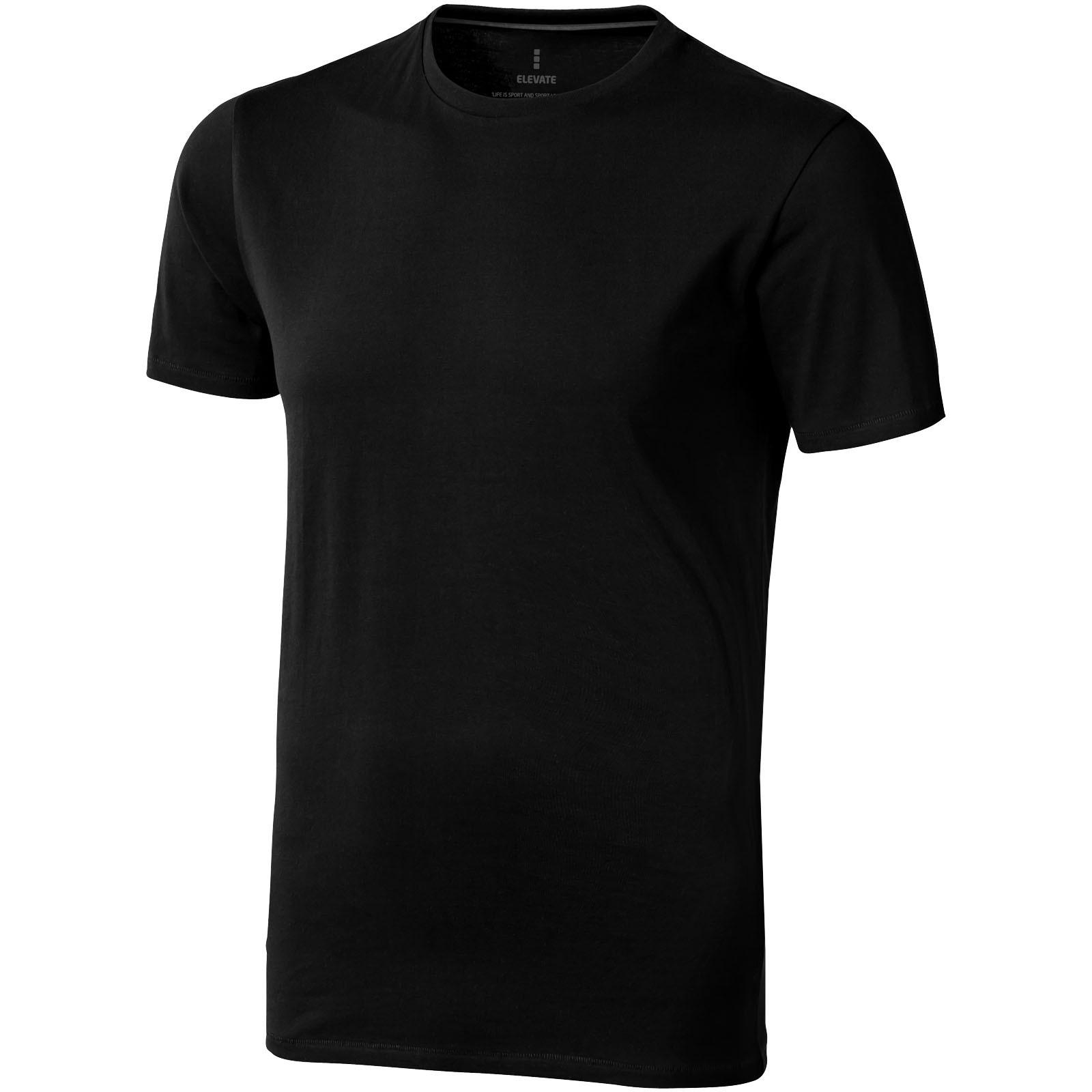 Nanaimo short sleeve men's t-shirt - Solid black / XXL
