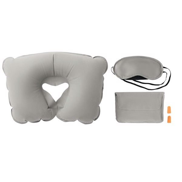 Set w/ pillow eye mask plugs Travelplus - Grey
