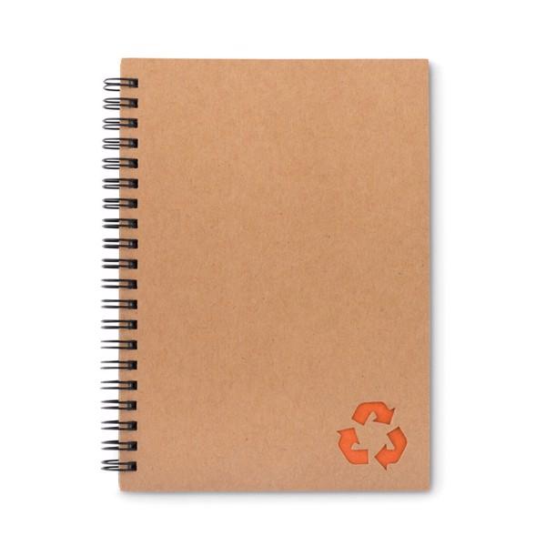 70 lined sheet ring notebook Piedra - Orange