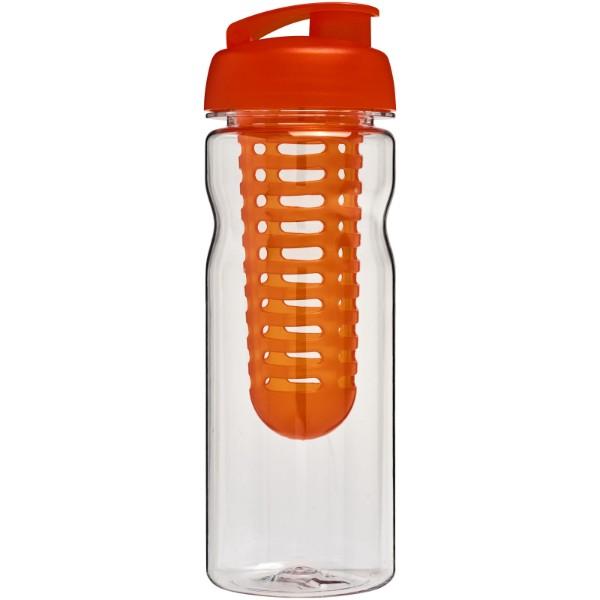 H2O Base Tritan™ 650 ml flip lid bottle & infuser - Transparent / Orange