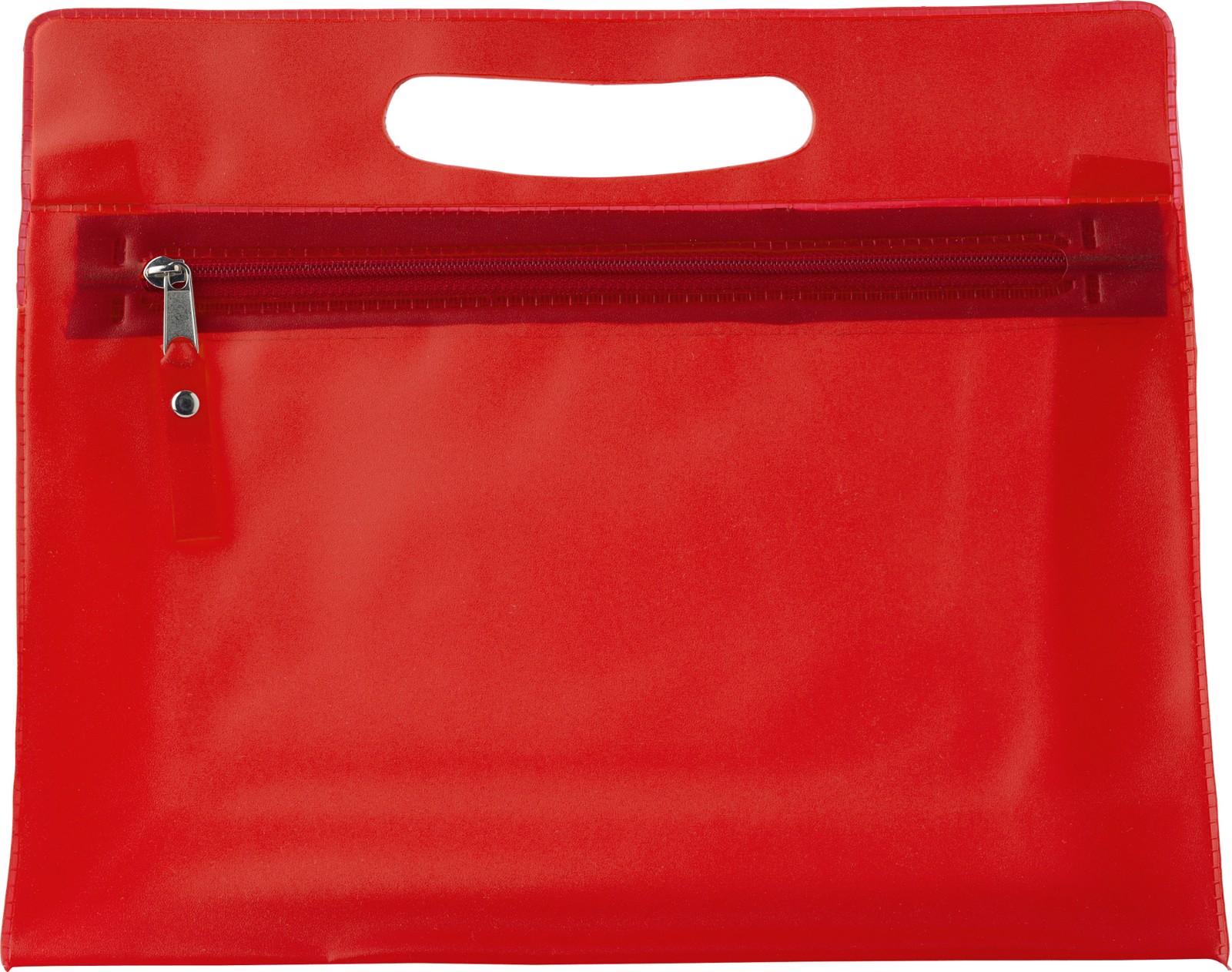 PVC  toilet bag - Red