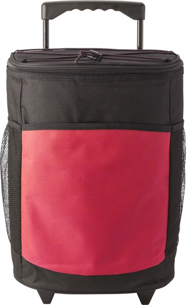 Polyester (600D) cooler trolley - Red