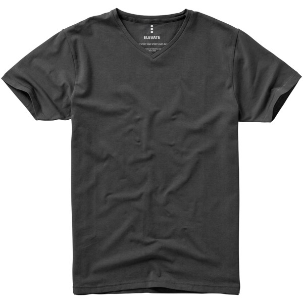 """Camiseta orgánica de manga corta para hombre """"Kawartha"""" - Antracita / XL"""