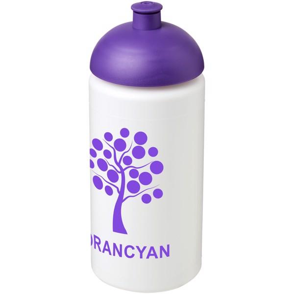 Sportovní láhev s kupolovitým víčkem Baseline® Plus grip 500 ml - Bílá / Purpurová