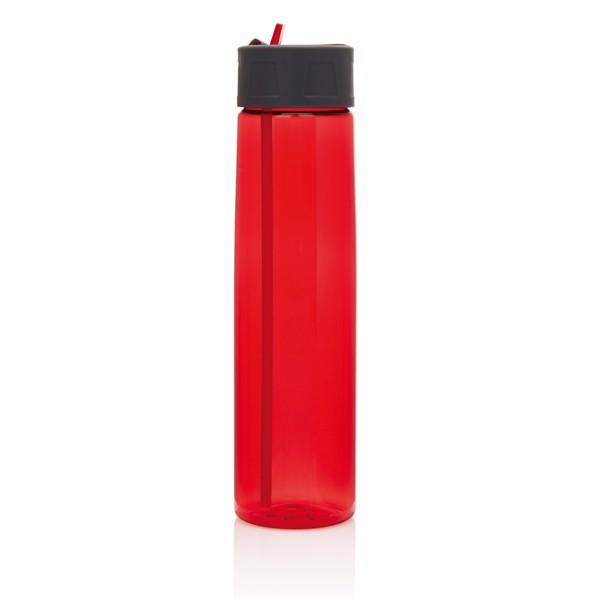 Tritan palack szívókával - Piros / Szürke
