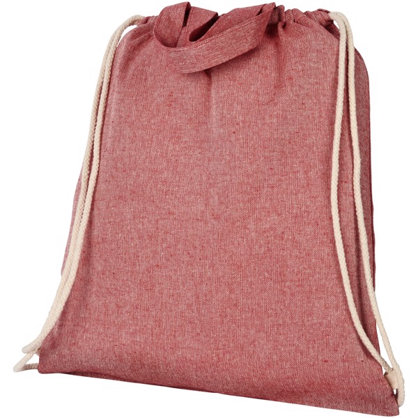 Pheebs 150 g/m² recycled drawstring backpack - Heather red
