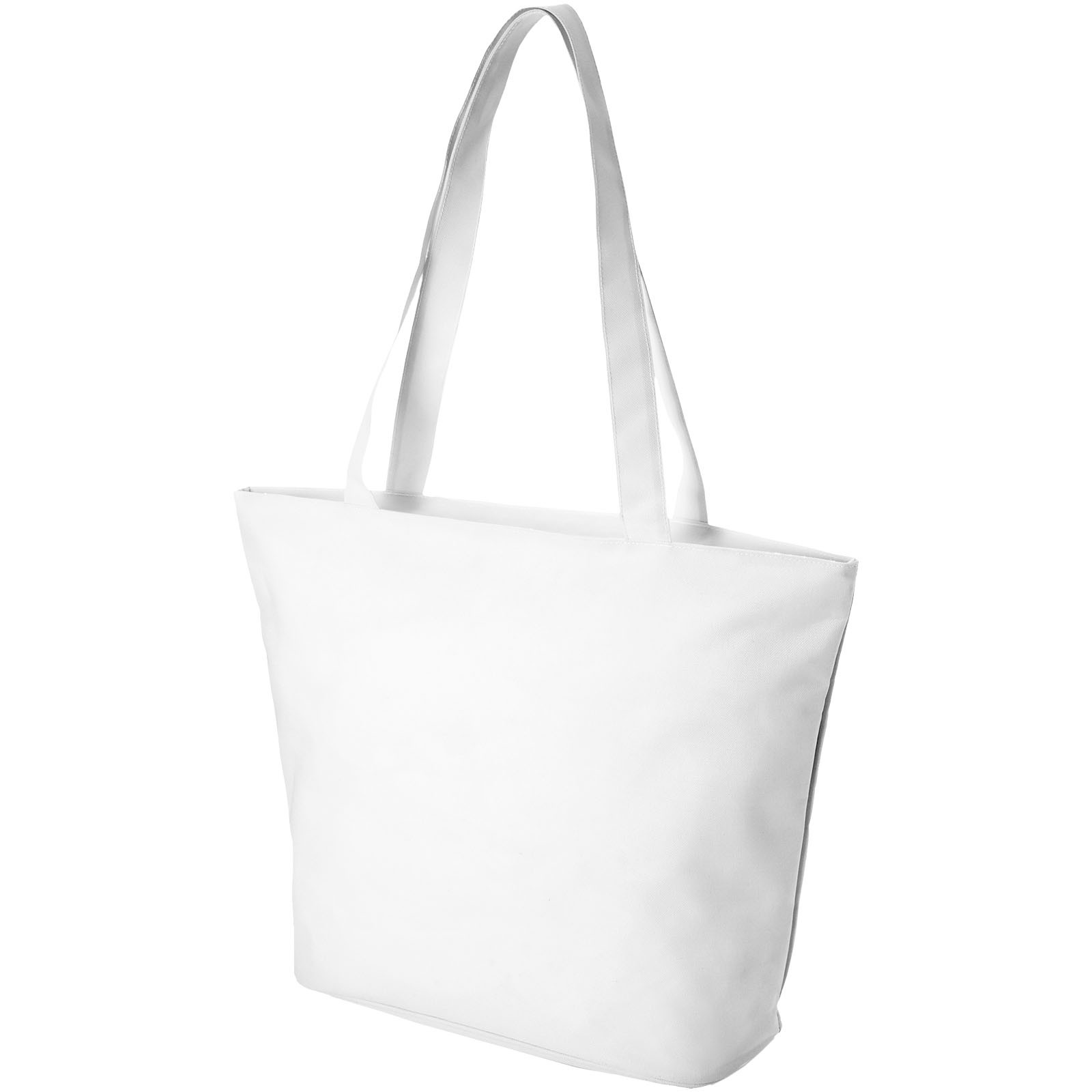Panama zippered tote bag - White