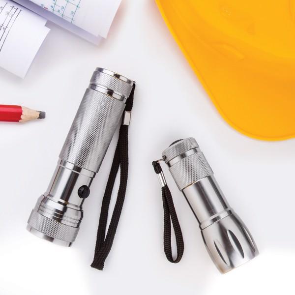 LED svetilka Reflector - srebrna