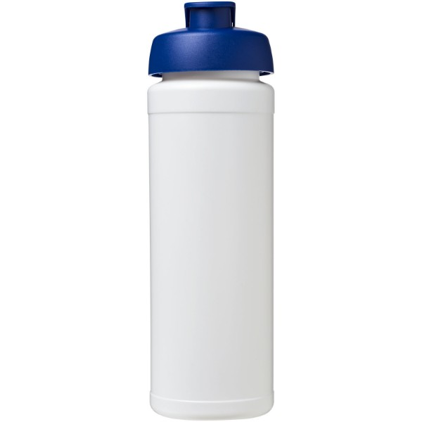 Sportovní láhev s vyklápěcím víčkem Baseline® Plus grip 750 ml - Bílá / Modrá