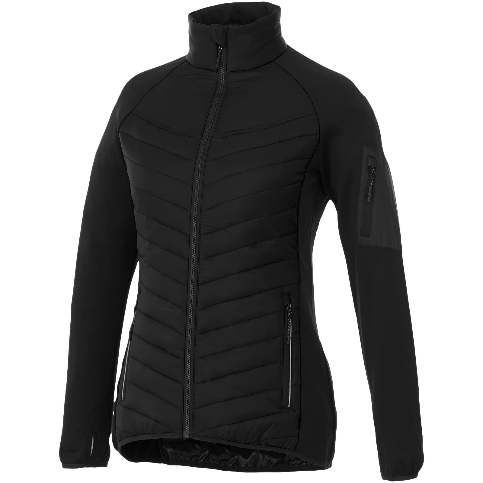 Banff hybrid insulated ladies jacket - Solid Black / XS