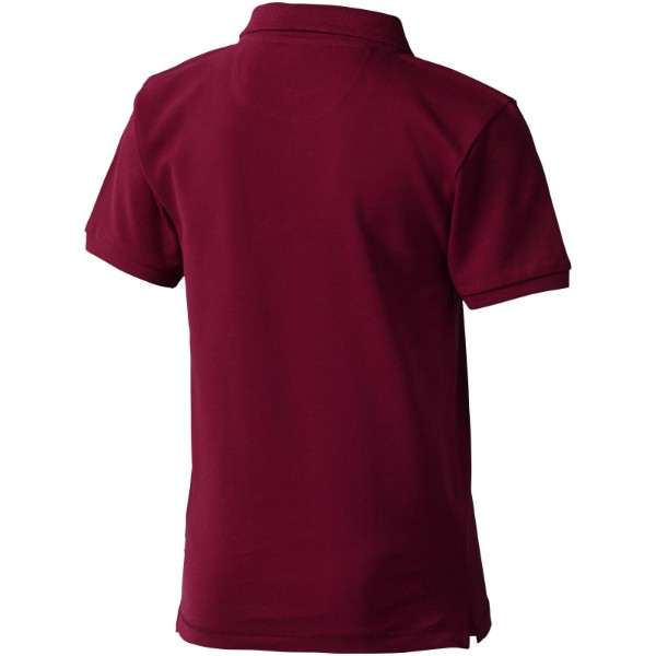 Calgary short sleeve kids polo - Burgundy / 104