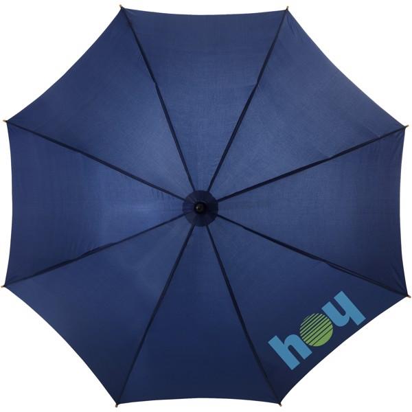 """23"""" deštník Kyle s automatickým otvíráním a dřevěnou tyčí a rukojetí - Navy"""