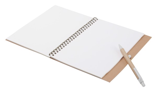 Notebook Tunel - White / Natural