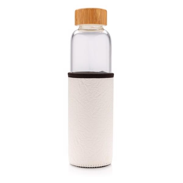 Skleněná lahev ve vzorovaném PU obalu