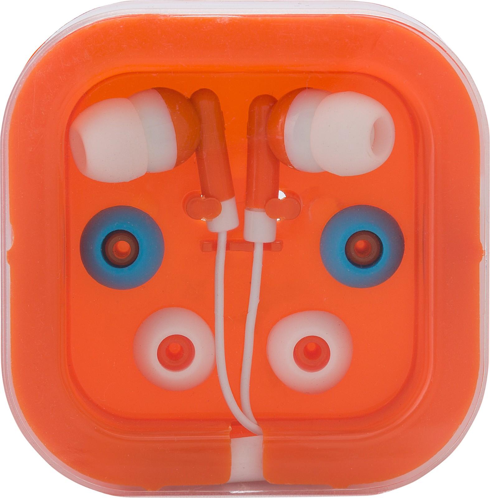 Kopfhörer 'Universal' aus Kunststoff/Metall - Orange