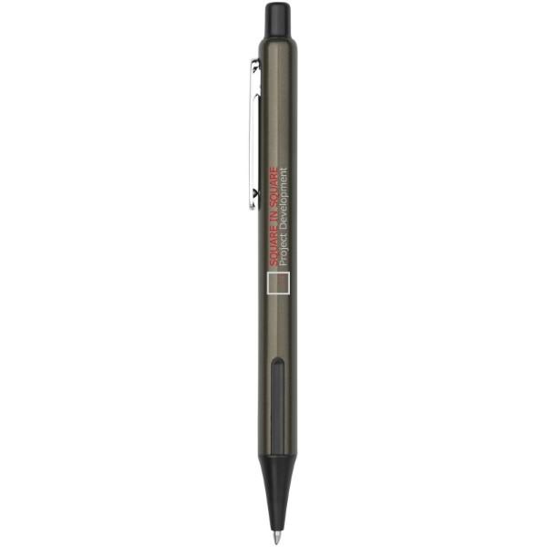 Milas Kugelschreiber mit Gummigriff - Olive