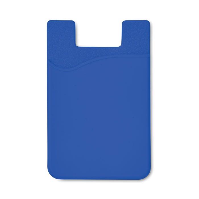Silikonový držák na karty Silicard - royal blue