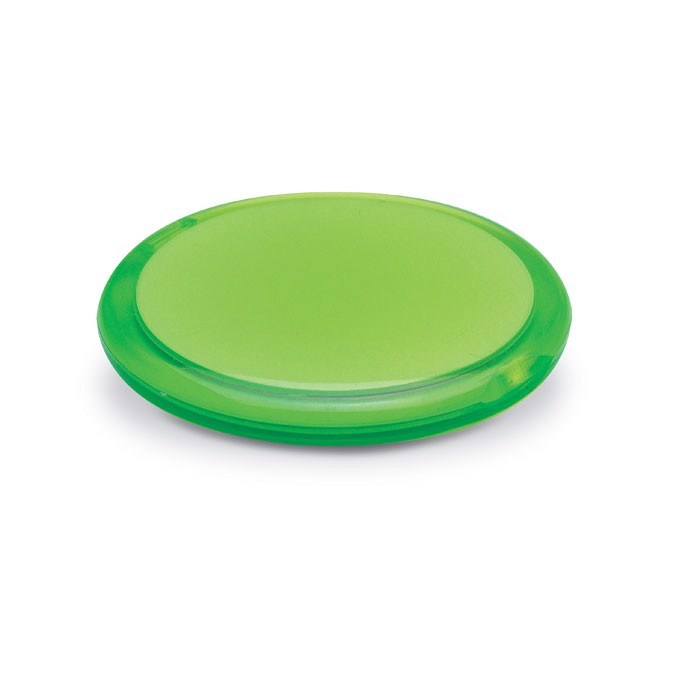 Rounded double compact mirror Radiance - Transparent Lime