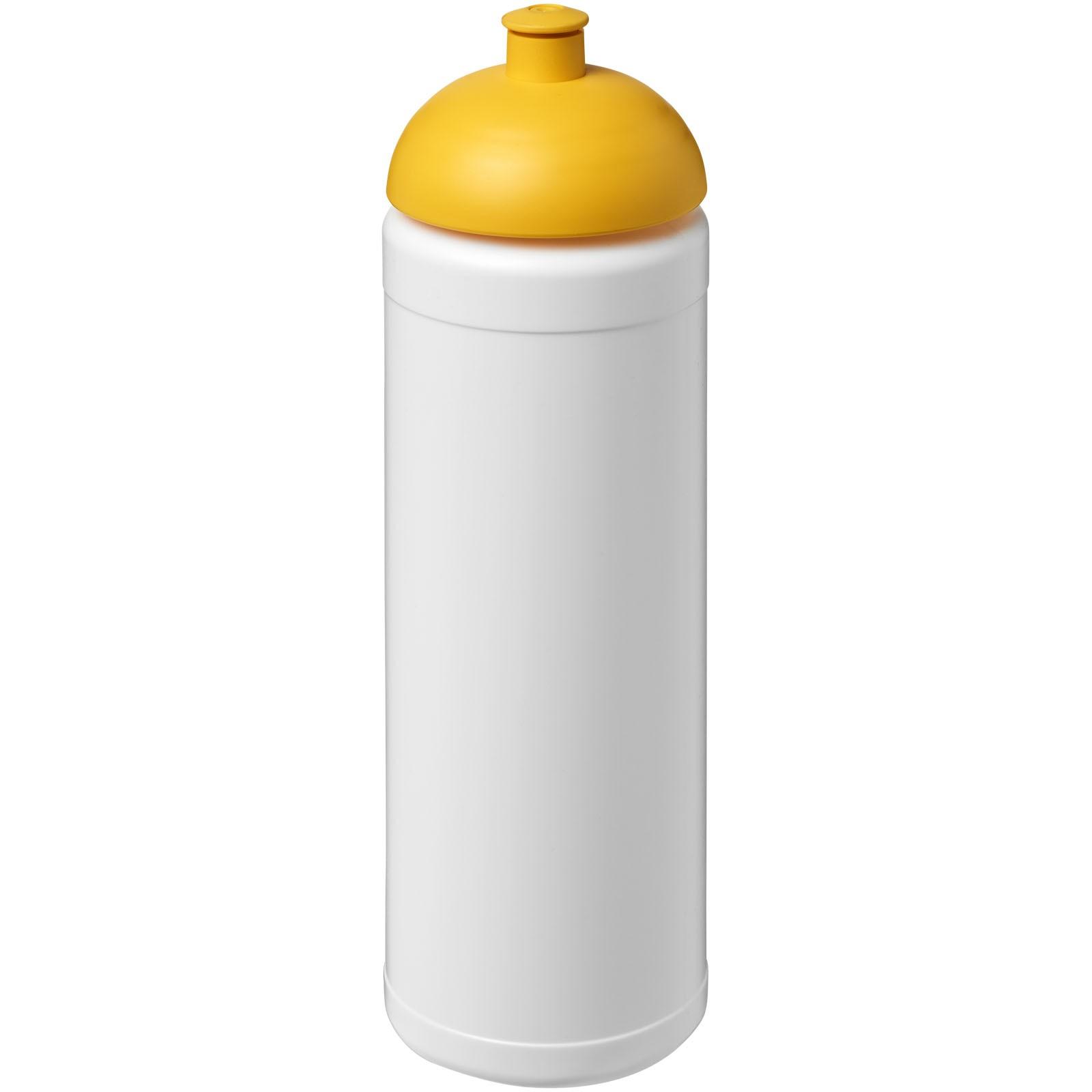 Sportovní láhev s kupolovitým víčkem Baseline® Plus 750 ml - Bílá / Žlutá