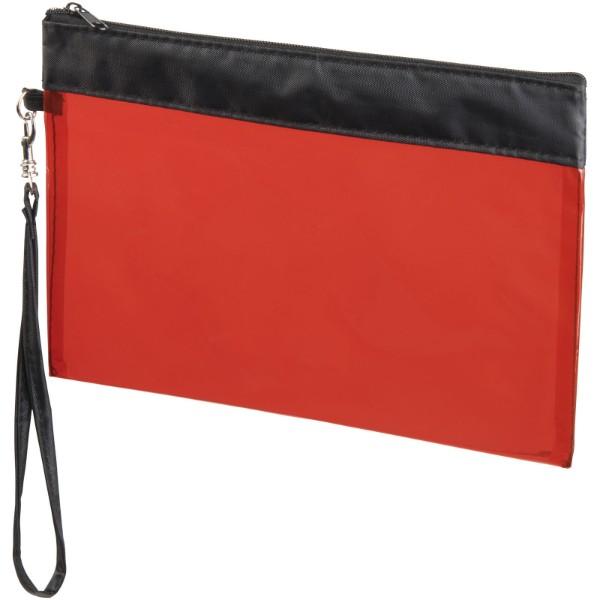 Sid Durchsichtiger Reisebeutel - Transparent Rot
