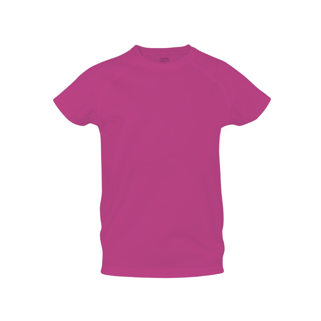 T-Shirt Criança Tecnic Plus - Fucsia / 4-5