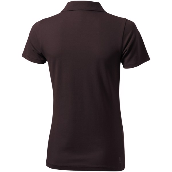 Seller short sleeve women's polo - Chocolate Brown / S