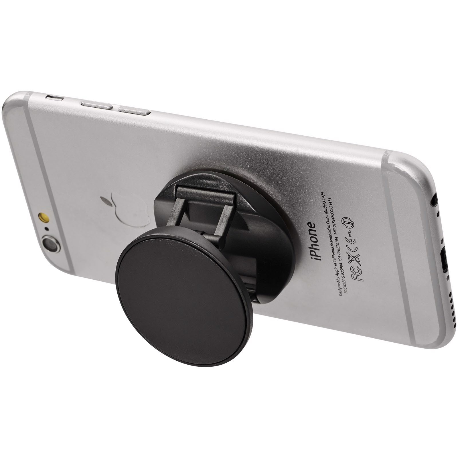 Brace phone stand with grip - Solid black
