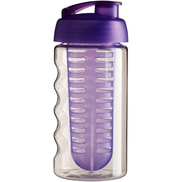 Sportovní láhev s infuzérem avyklápěcím víčkem H2O Bop® 500 ml - Transparent / Purpurová