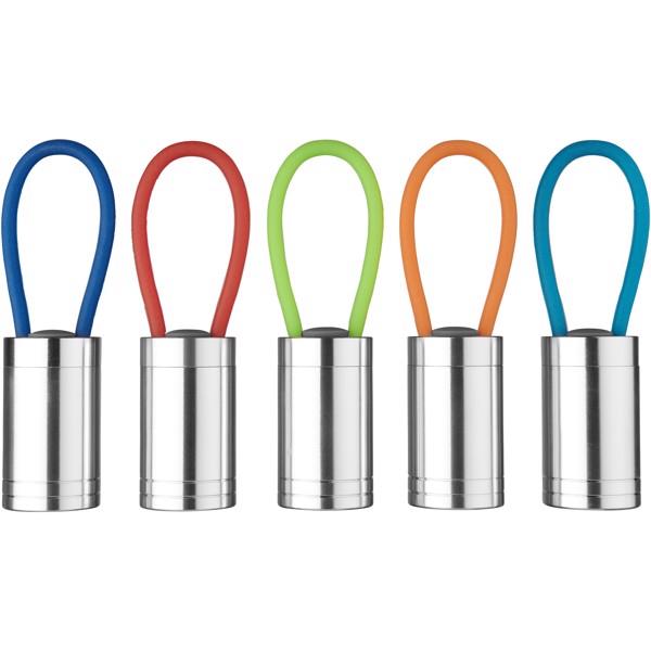 Vela 6 LED-Taschenlampe mit Leuchtband - Orange