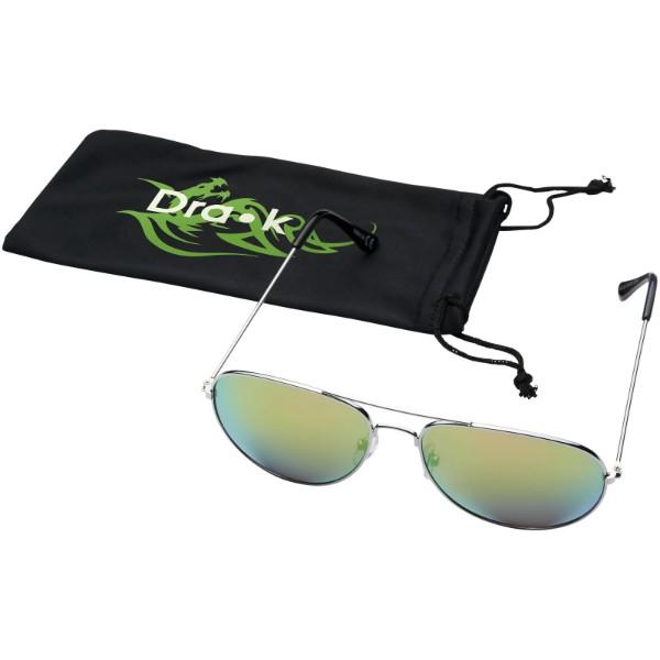 Okulary przeciwsłoneczne Aviator z lustrzanymi, kolorowymi soczewkami - Zielony