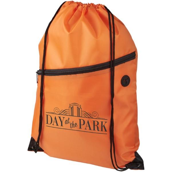 Oriole šňůrkový batoh se zipem - 0ranžová