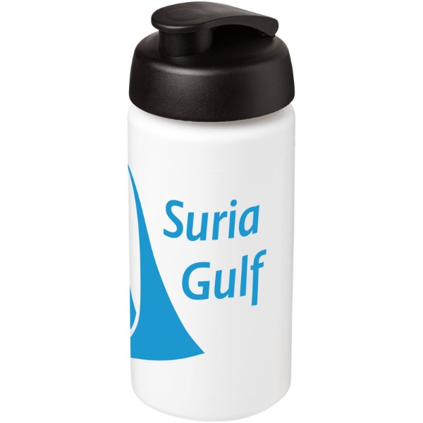 Sportovní láhev s vyklápěcím víčkem Baseline® Plus grip 500 ml - Bílá / Černá