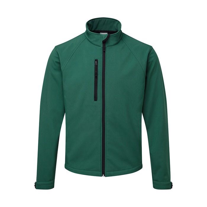 Men's Softshell 340 g/m2 Soft Shell Jacket R-140M-0 - Bottle Green / 4XL