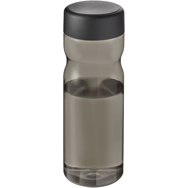 H2O Eco Base Bidón deportivo con tapa de rosca de 650ml - Carbón / Negro intenso