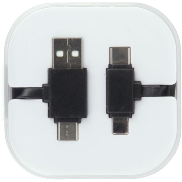 Nabíjecí kabel Colour-Pop s pouzdrem - Černá