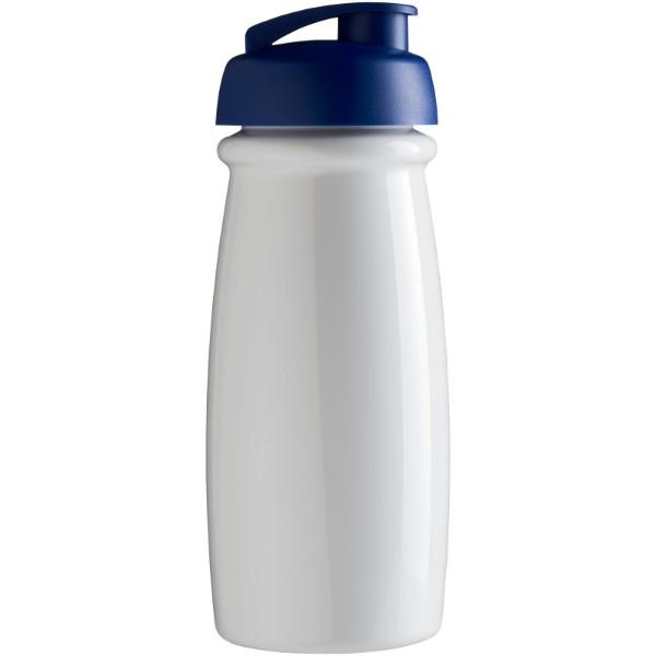 H2O Pulse® Bidón deportivo con Tapa Flip de 600 ml - Blanco / Azul real