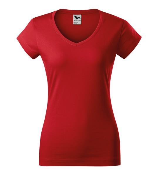 Tričko dámské Malfini Fit V-neck - Červená / XL