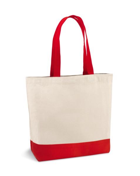 EDMONTON. 100% cotton canvas bag - Red