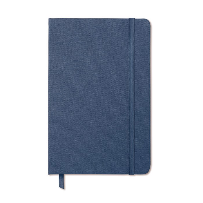 Two tone fabric cover notebook Fabric Note - Blue